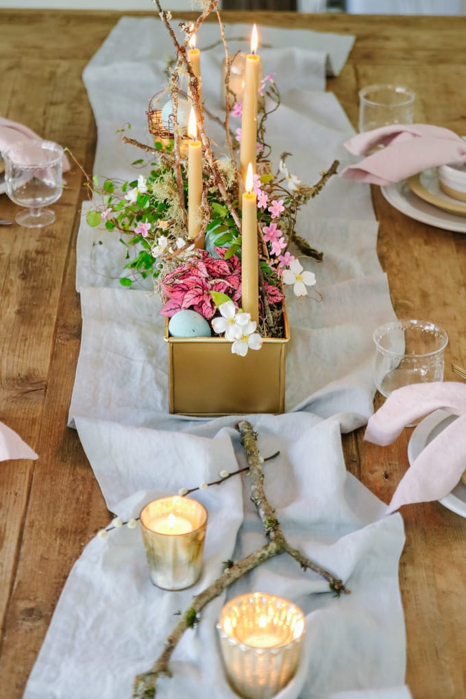 natural easter decor