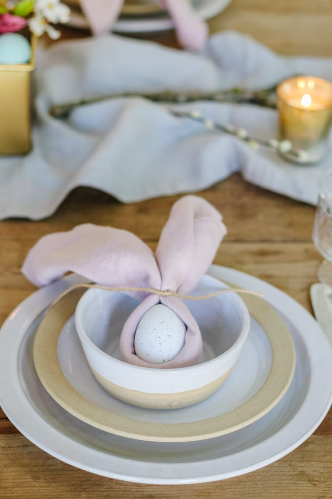 simple easter place setting ideas