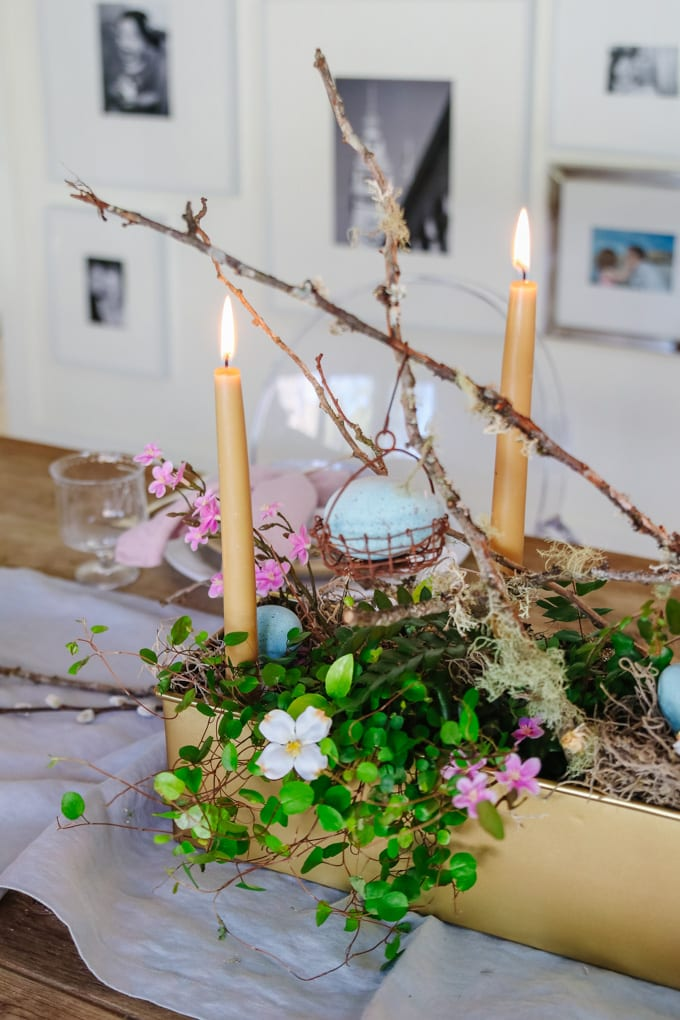 easter living centerpiece idea