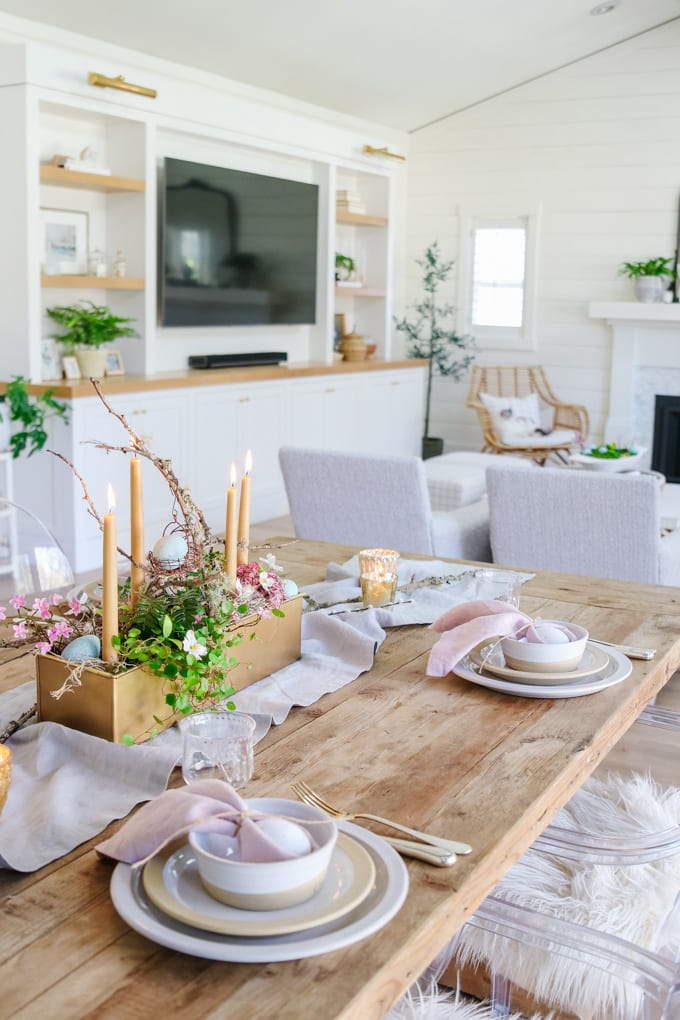 natural style easter table
