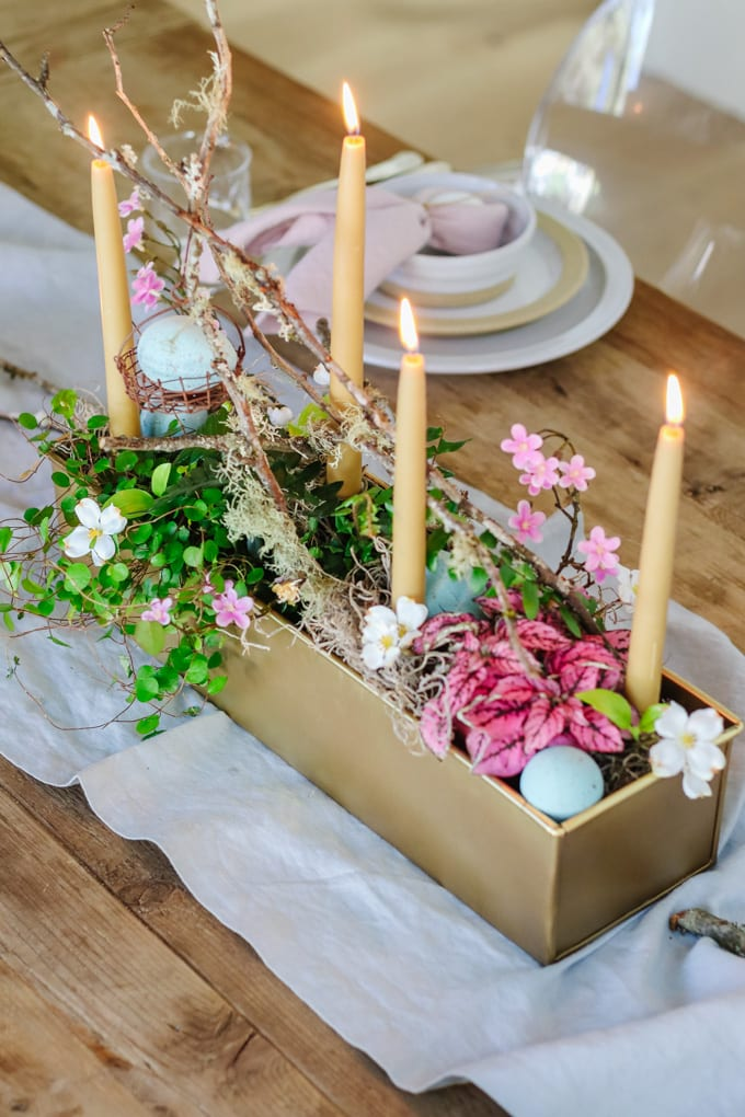 living centerpiece for spring