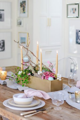 natural style easter table idea