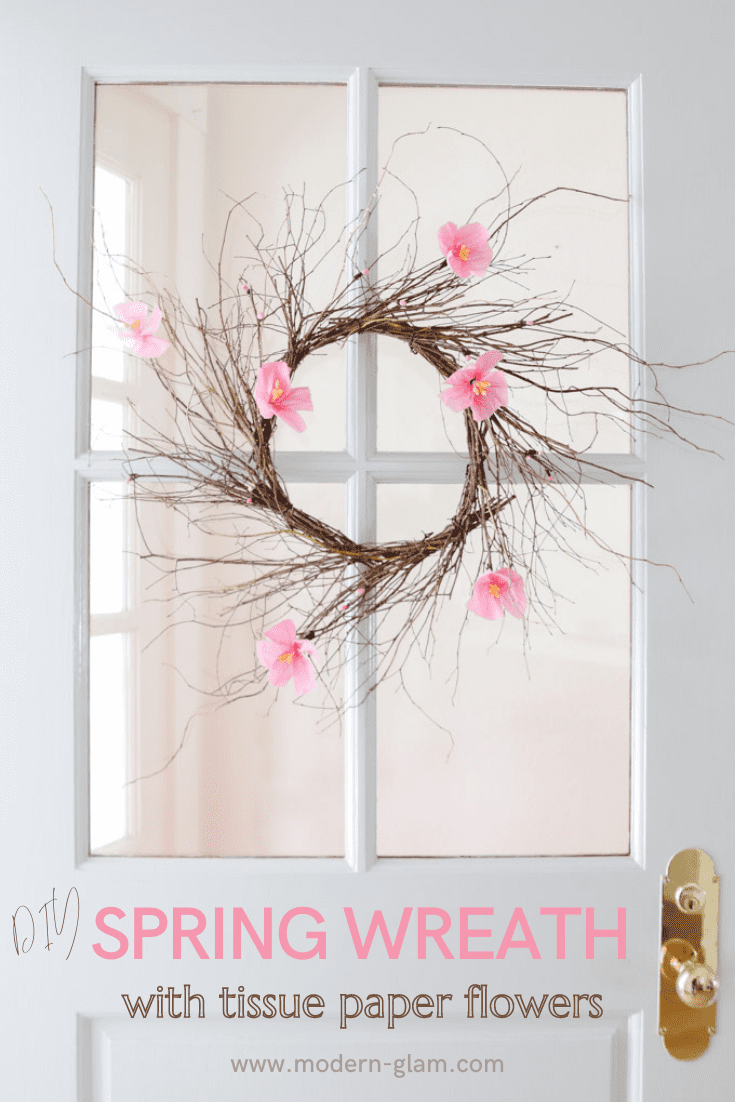 spring wreath ideas via @modernglamhome