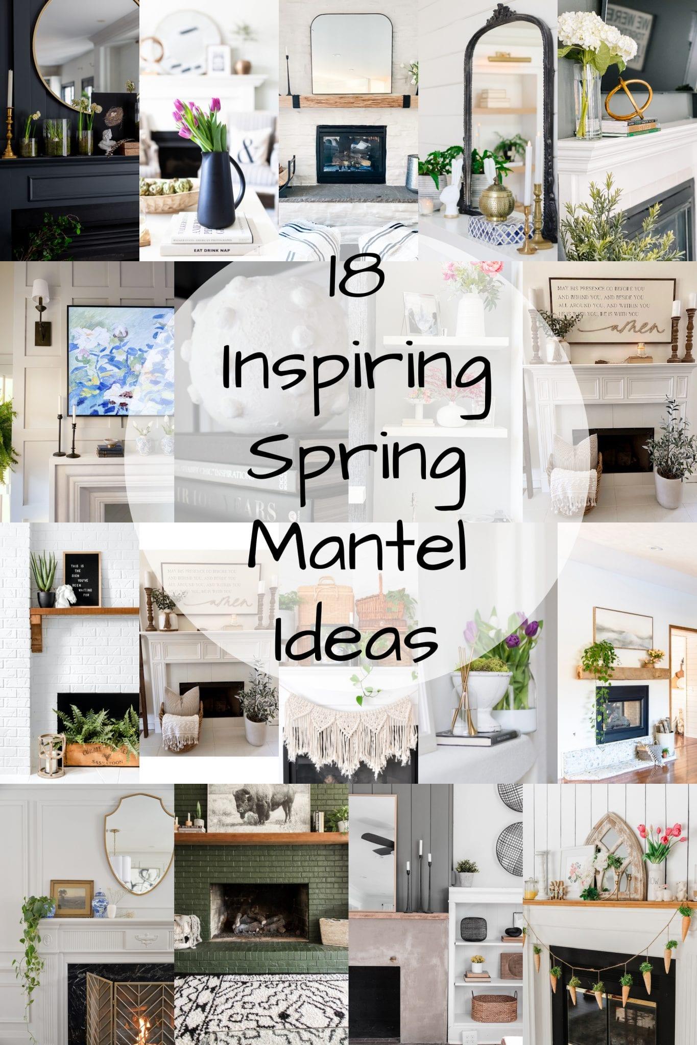 spring mantel ideas via @modernglamhome