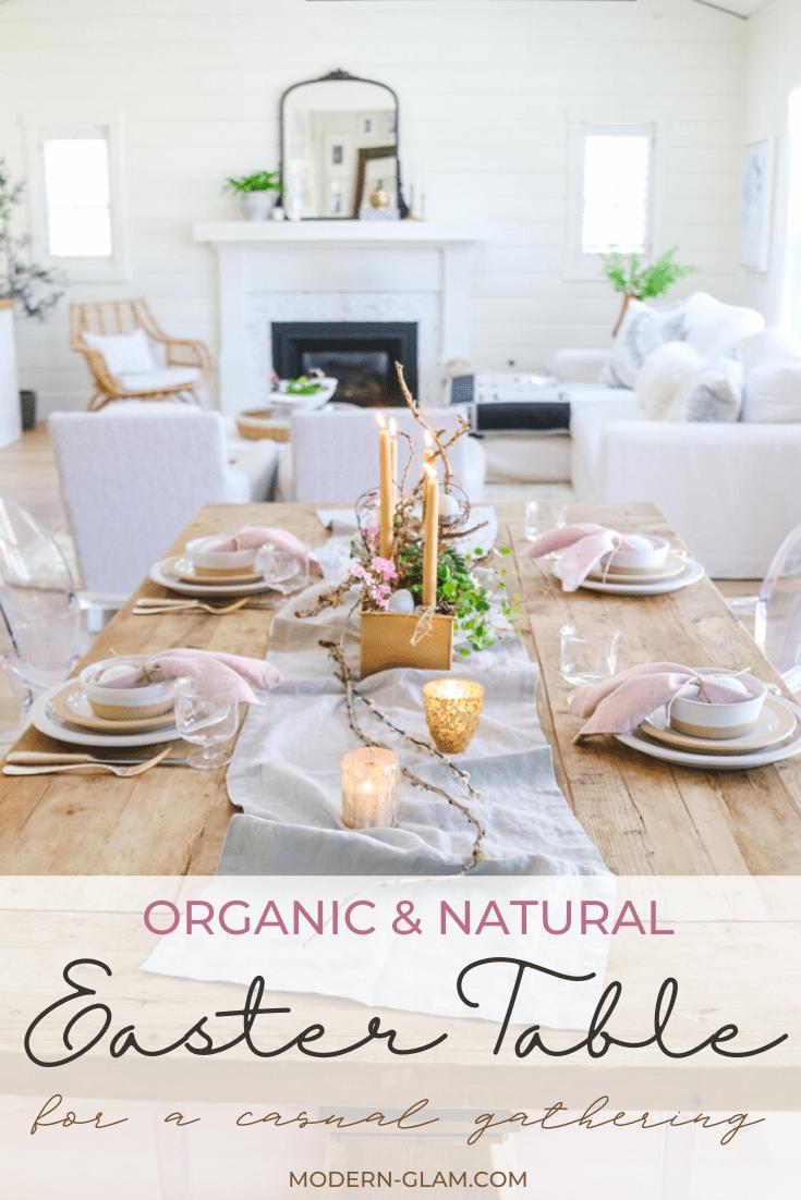 organic and natural spring table idea via @modernglamhome
