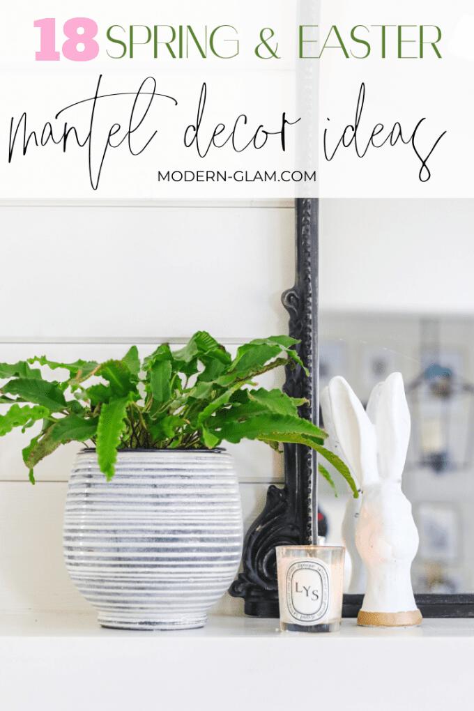 18 spring mantel decor ideas
