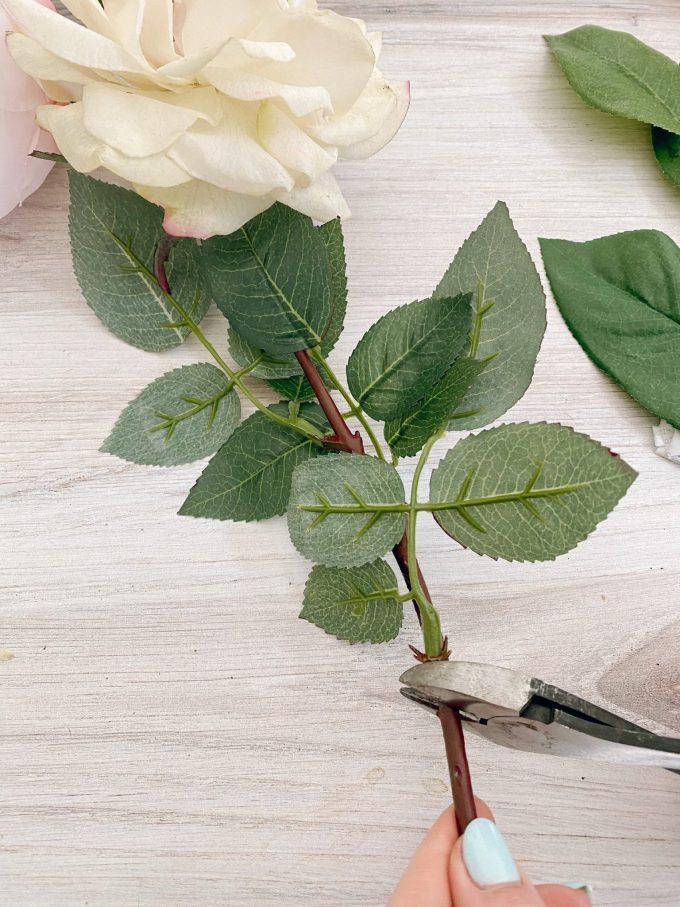 faux peonies in vase