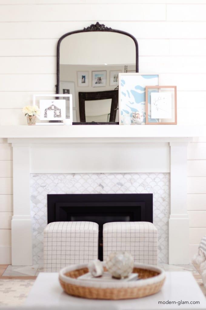 coastal summer fireplace decorations