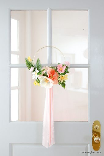 Summer Hoop Wreath DIY
