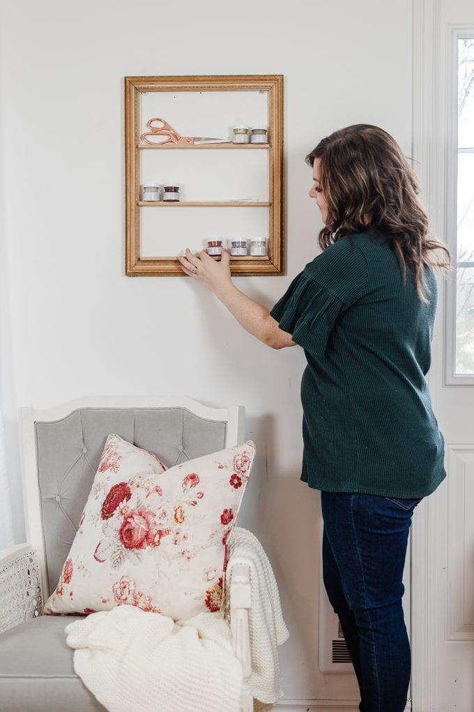 turn a frame into a shelf