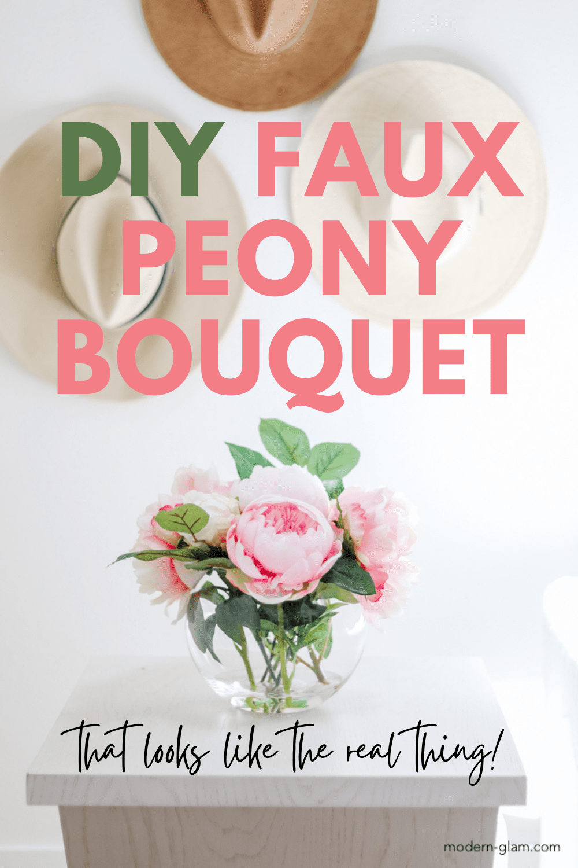 DIY Faux Peony Bouquet