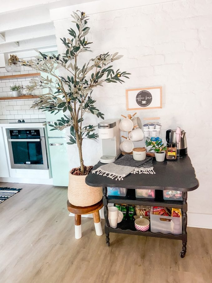 how to upcycle a bar cart