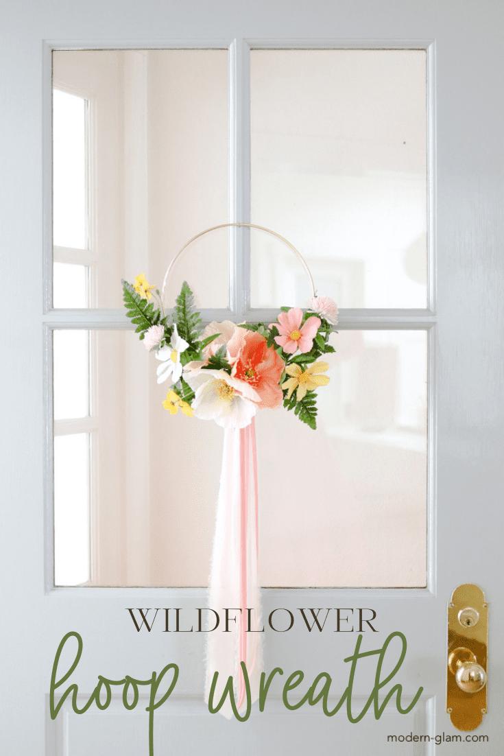 wildflower hoop wreath