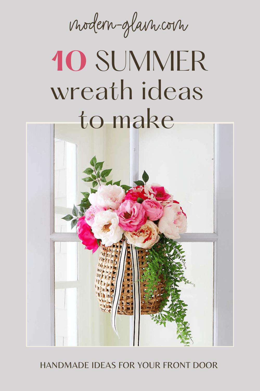 summer wreath ideas to make via @modernglamhome