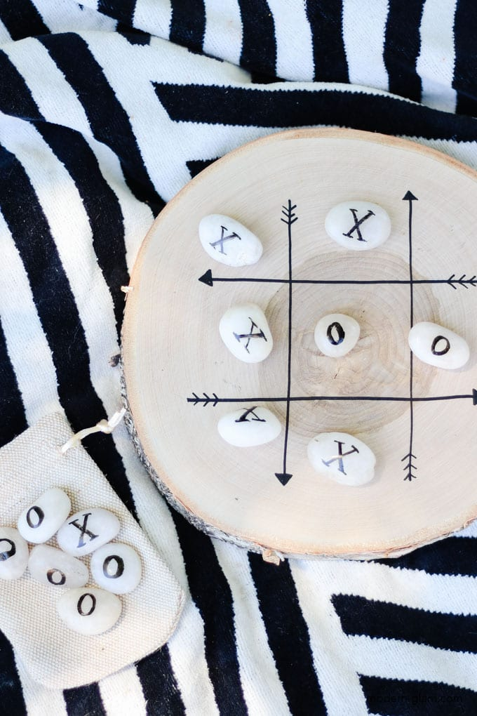 how to make a tic tac toe board out of wood