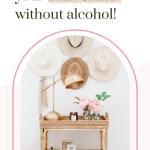 non alcoholic bar cart styling ideas
