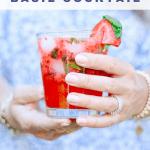 muddled strawberry vodka cocktail recipe