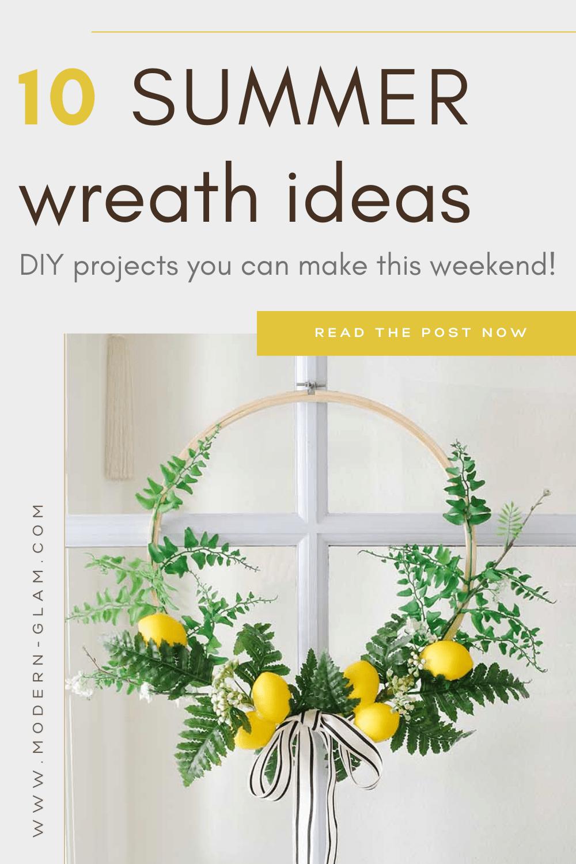 diy summer wreath ideas via @modernglamhome