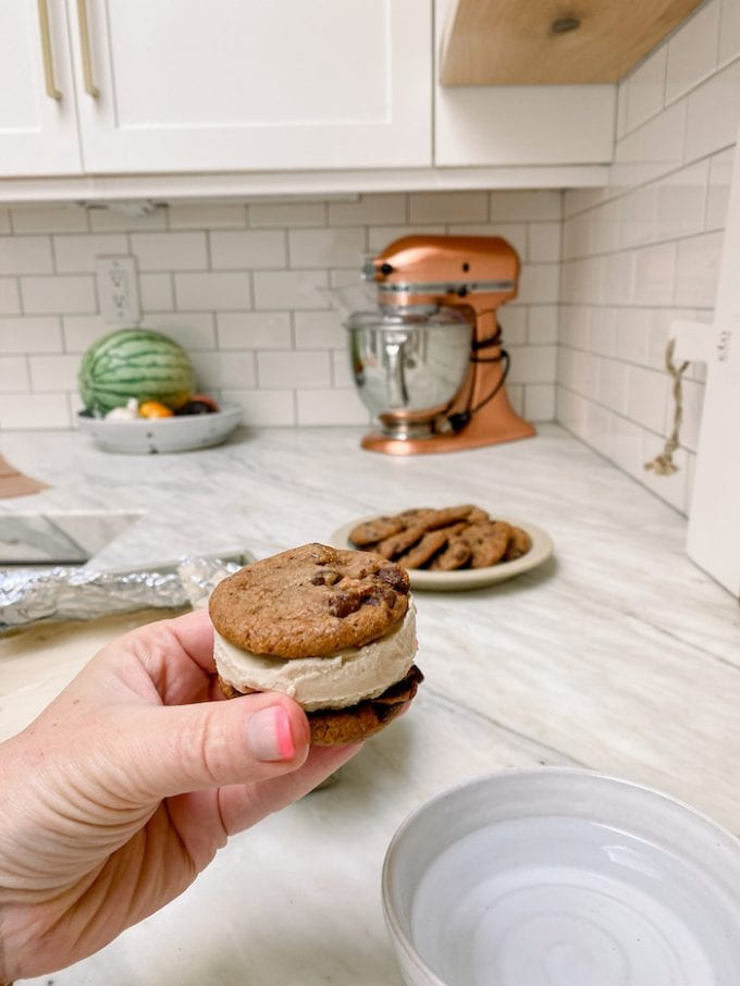 tips for scooping ice cream for sandwiches