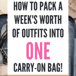 how to pack a carry-on bag for europe