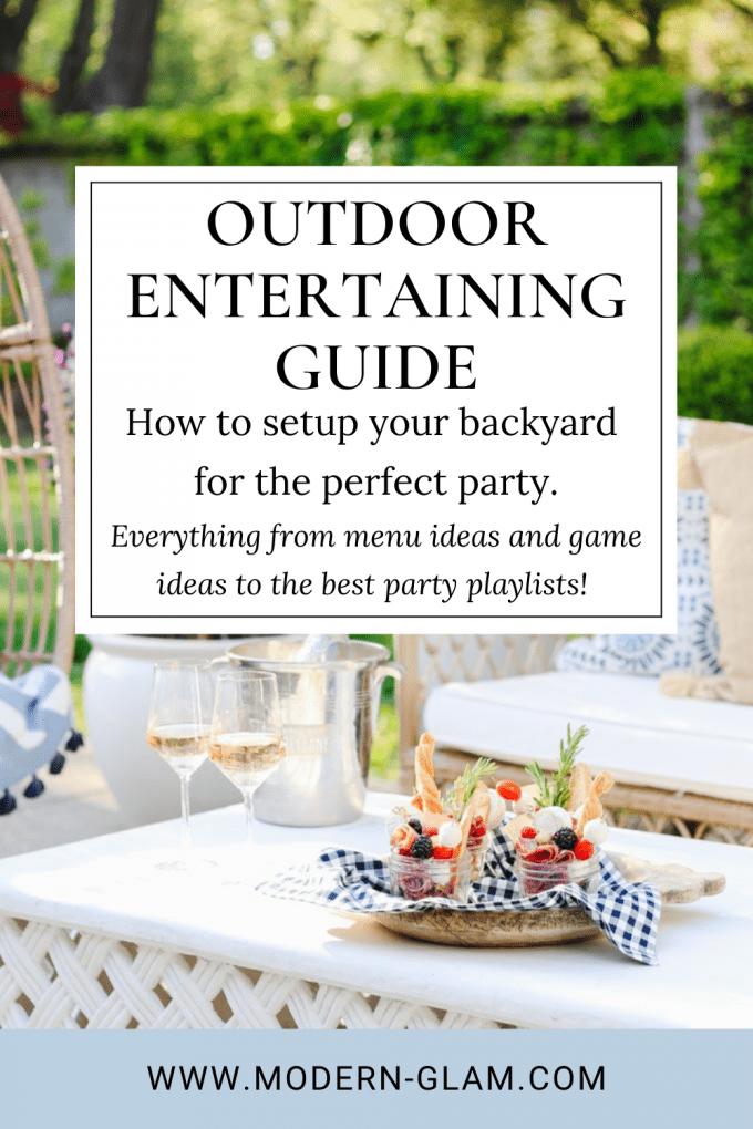 outdoor entertaining guide