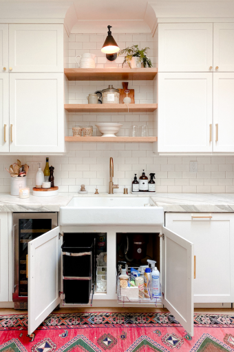 before and after kitchen organizing