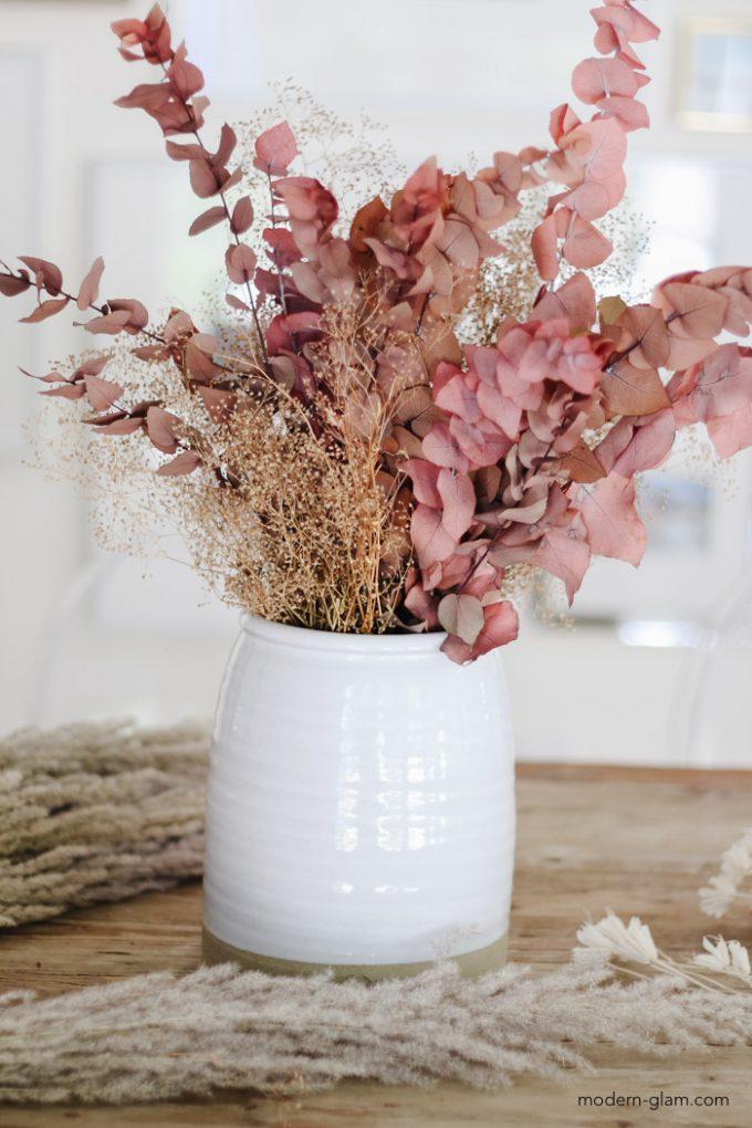 DIY dried flower arrangement for fall