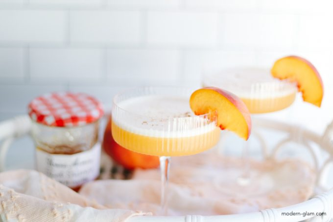peach whiskey sour recipe