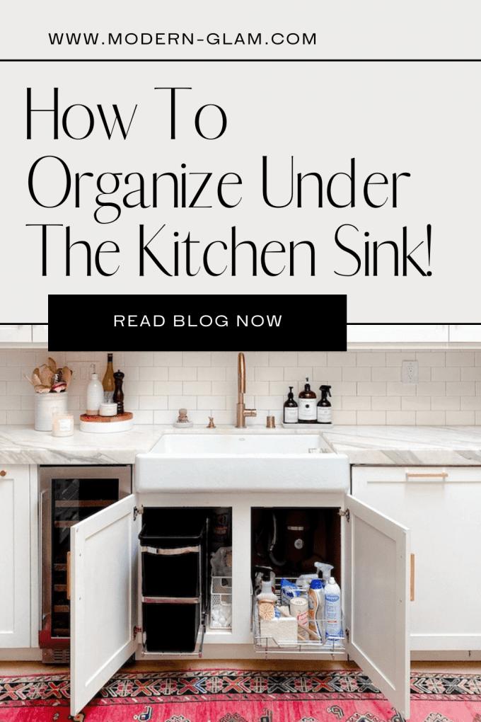 under sink organizing solutions