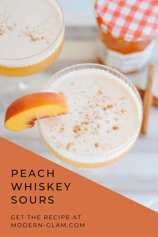 peach whiskey sour via @modernglamhome