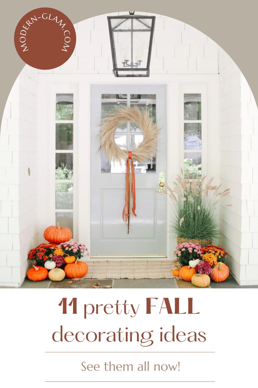 11 outdoor fall decor ideas via @modernglamhome