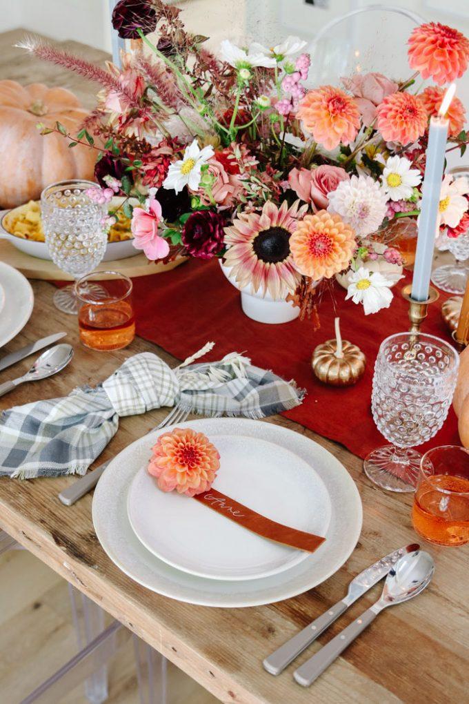 Martha Stewart Fall tablescape