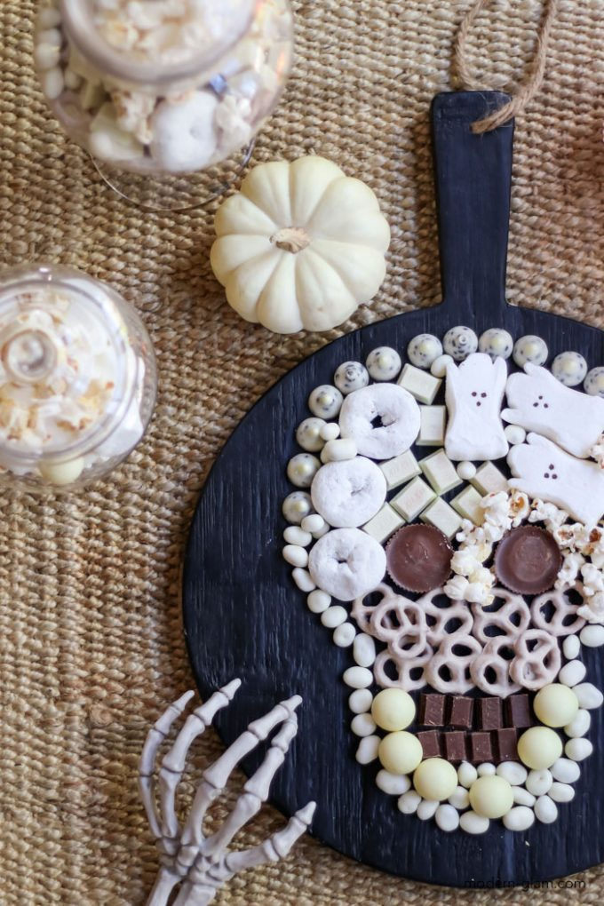 Skull shaped candy board