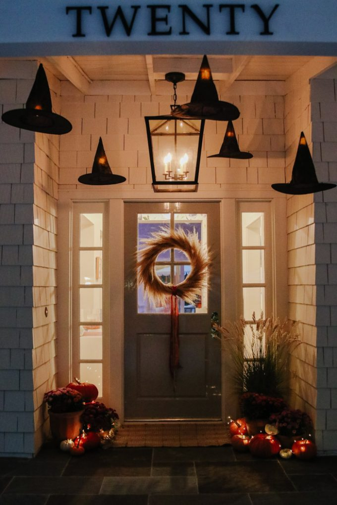 how to hang witches hat lanterns