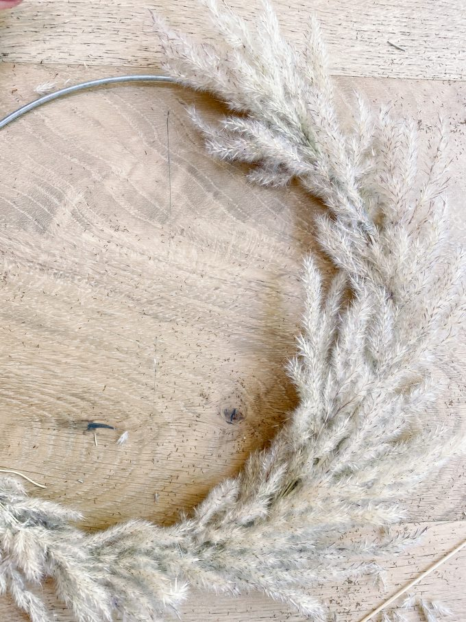 how to make a pampas grass wreath