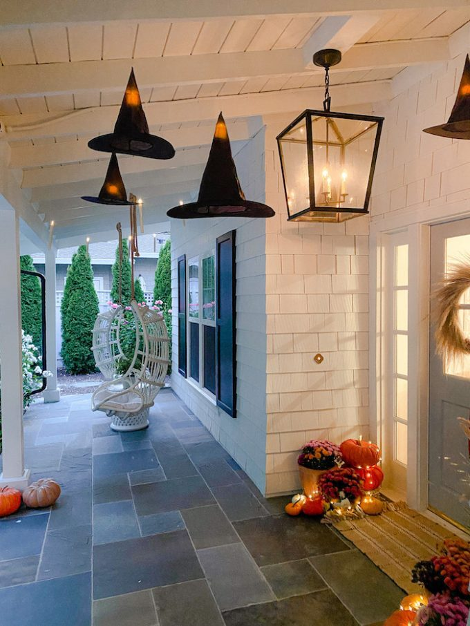 haunted halloween front porch
