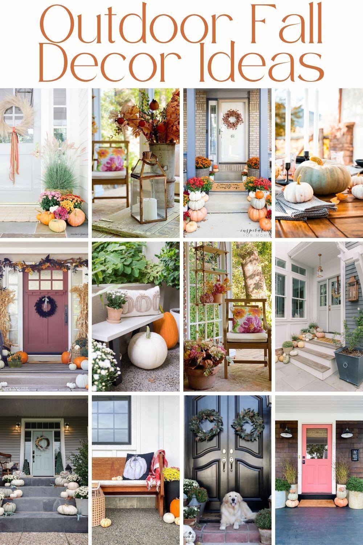 outdoor fall decor ideas for your home via @modernglamhome