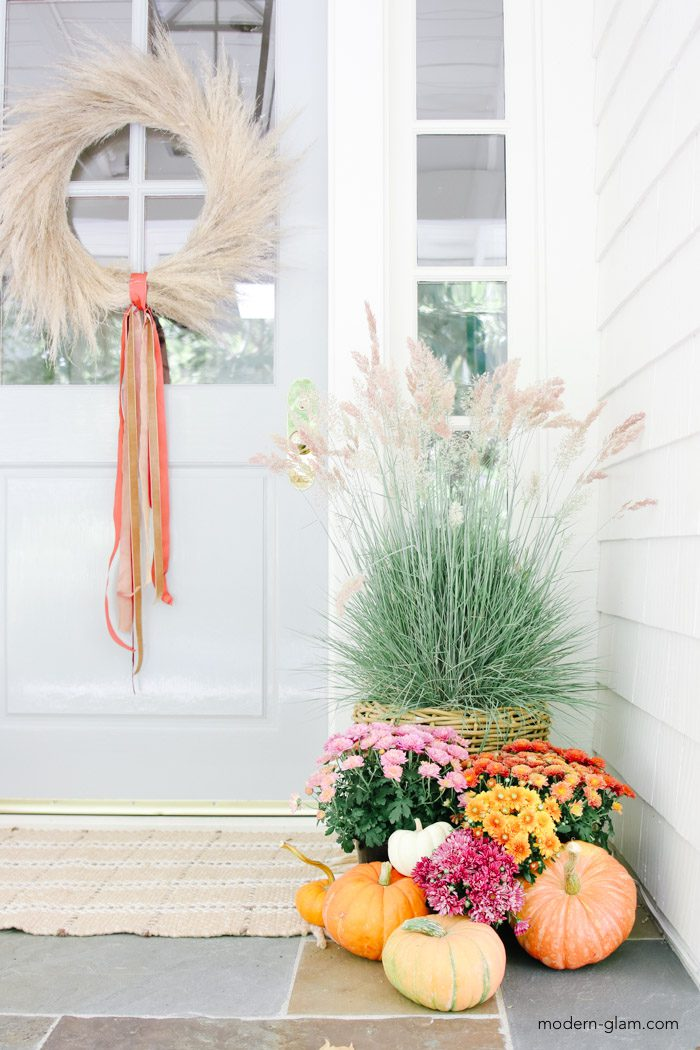 natural fall porch decor