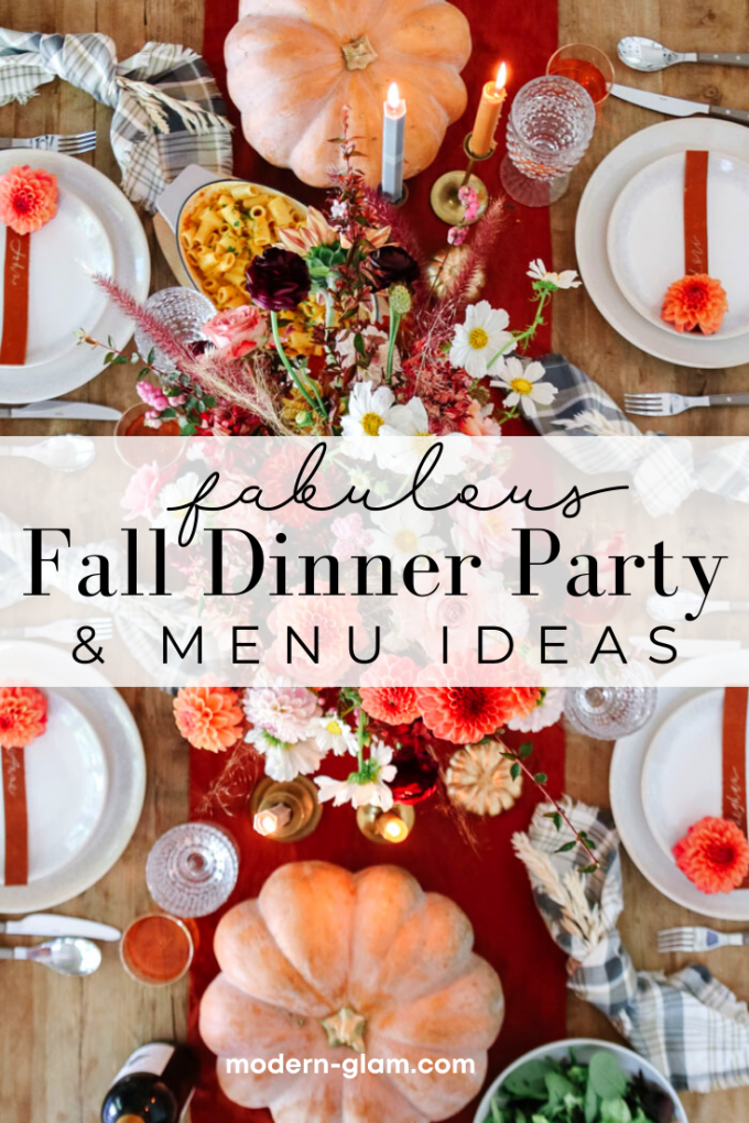 fall dinner party table setting ideas