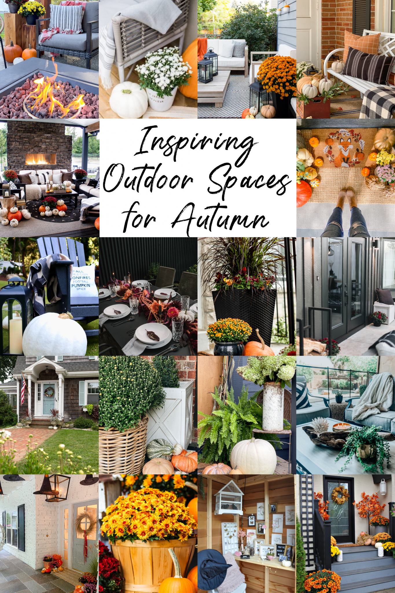 Halloween Porch Decor With Witches Hats and Candles via @modernglamhome