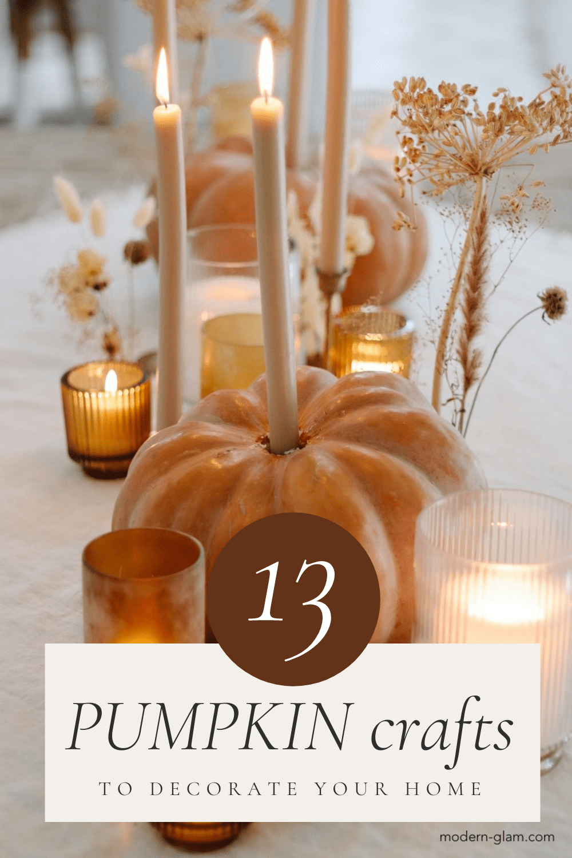 13 pumpkin craft ideas for fall via @modernglamhome