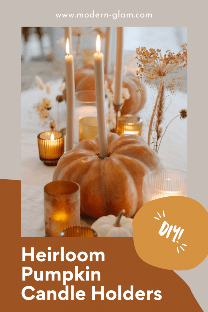 how to make candle holders with pumpkins