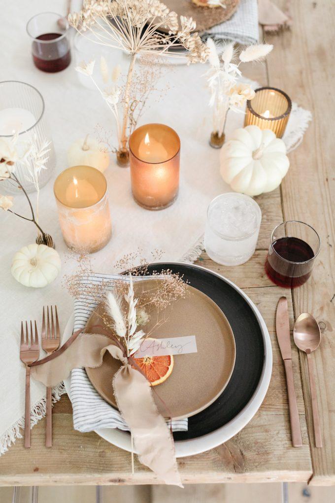 thanksgiving place card orange