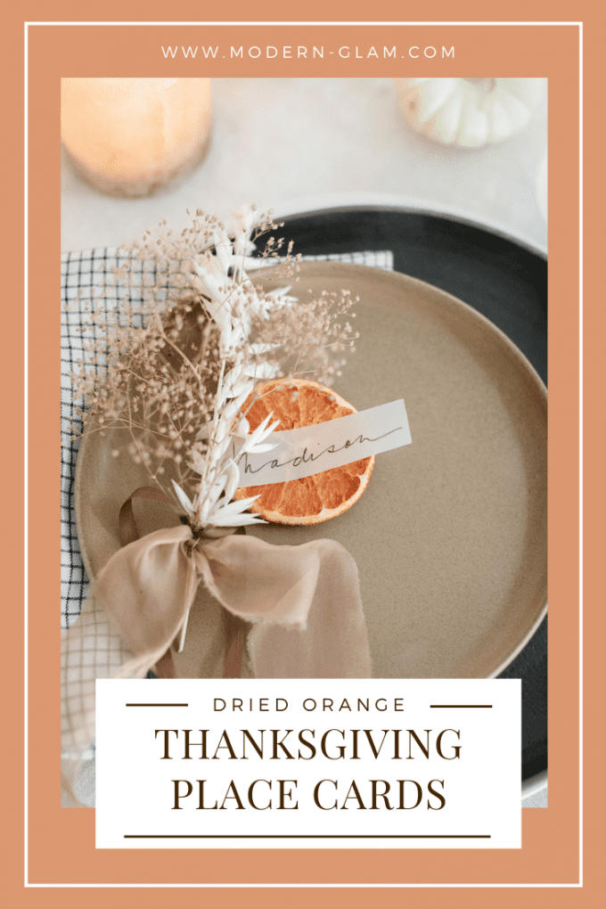 how to make dried orange thanksgiving place cards