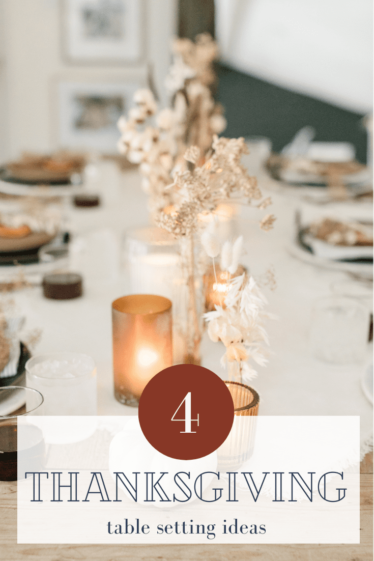 4 thanksgiving table ideas via @modernglamhome