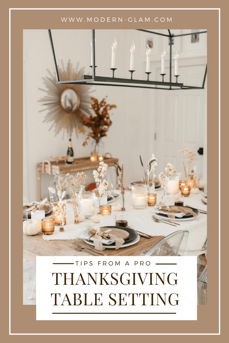 tips for hosting thanksgiving via @modernglamhome